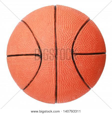 Red basket ball isolated on white background