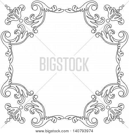Calligraphic frame, floral frame, page decoration frame. Vector frame. wedding frame, pattern frame, menu frame, vintage frame.