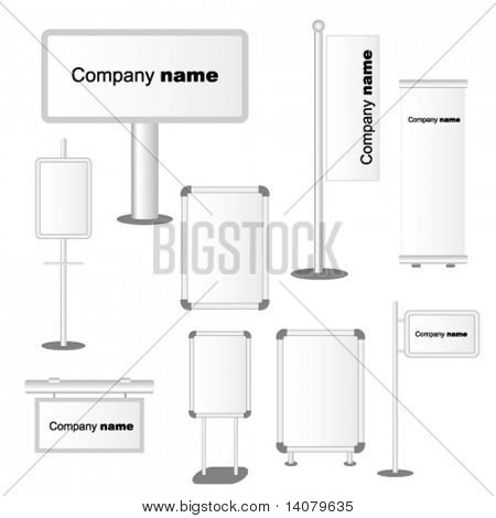 Set of Advertising templates