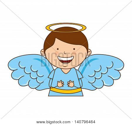 angel boy character icon vector illustration design