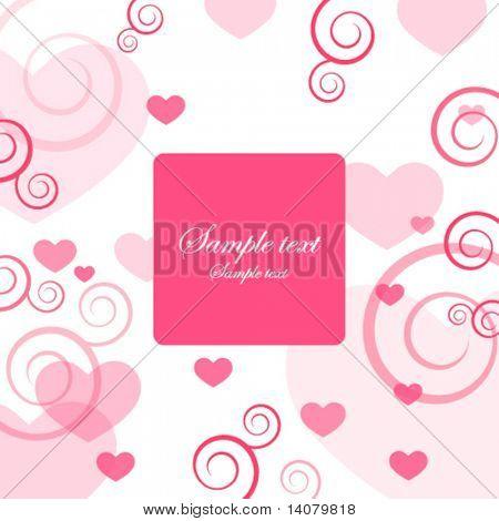 Tarjeta de San Valentín con espacio de copia