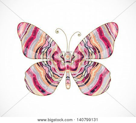 Vector illustration with beautiful abstract butterfly. Illustration 10 version