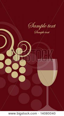 Fundo vinho
