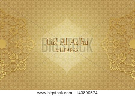 Religious Eid Al Adha Mubarak Background Design.