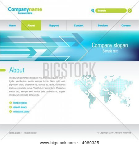 Web business template, editable, elements separate on layers