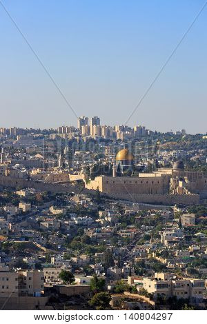 The Temple Mount With Wailing Wall And Al-aqsa In Jerusalem