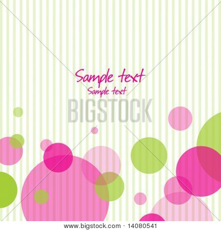 Background with stripes and bubbles
