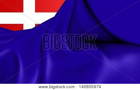 Kingdom of Sardinia Flag. 3D Illustration. Front View.