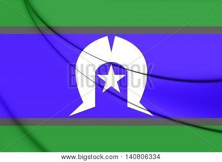 Flag Of Torres Strait Islanders. 3D Illustration.