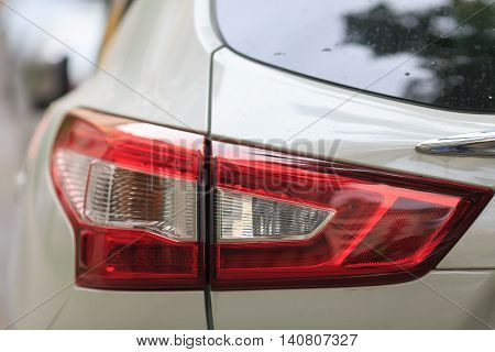modern automobile headlight. close-up. auto background. xenon.