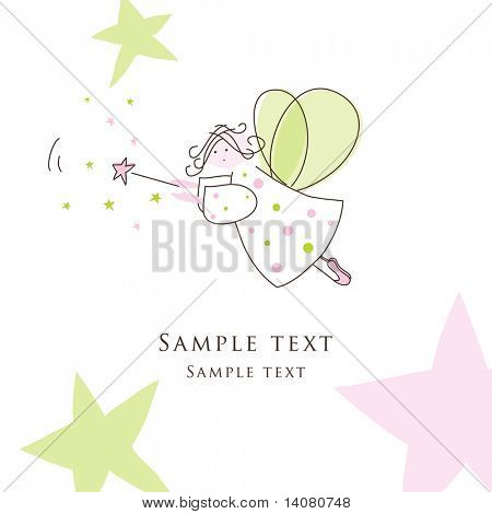 Cute fairly - greeting card