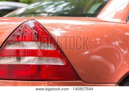 automobile headlight. close-up. auto background. xenon light.