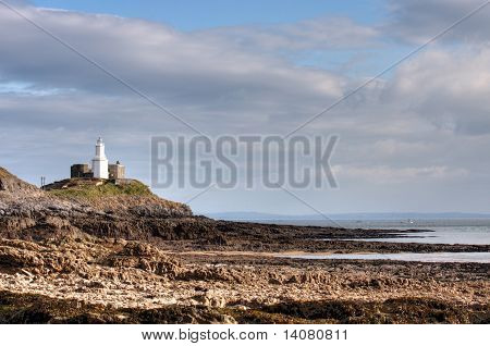 A Lighthouse In Swansea West Wales