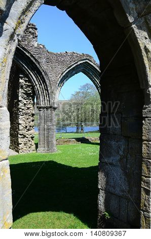 A view of the arches at the ruins of Inchmahome priory
