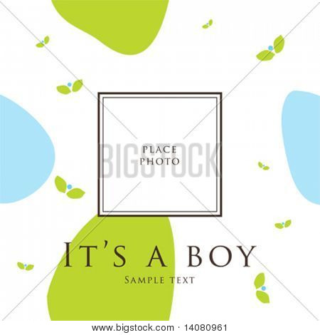 Bab< boy announcement card