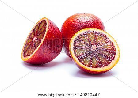 Sicilian orange isolated on a white background