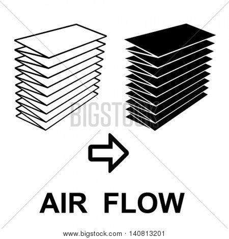 air filter black symbol vector