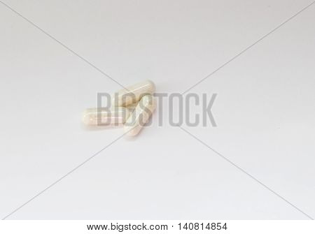 lot of pills isolated on white background medicine