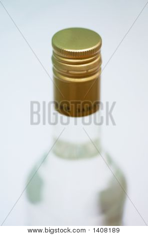 Bottle Of Vodka On A White Background
