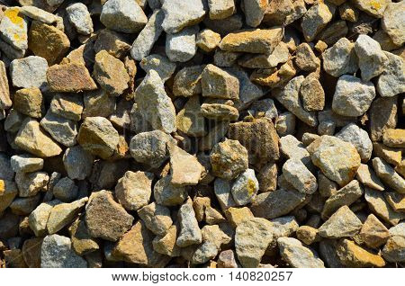 Background Of Road-metal On The Street