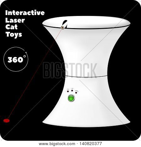 interactive laser toy for cats with green button and indicators