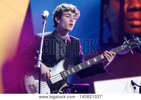 NEW  YORK-NOV 13: Noah Sierota of Echosmith performs at VH1's 'You Oughta Know Concert' 2014 in New York City.  Anthony Criss, better known by his stage name Treach, is an American rapper and actor