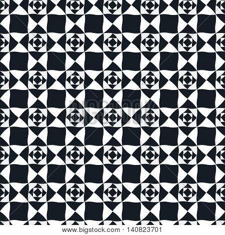 Seamless geometric pattern. Vector repeating texture. Geometric simple print. Monochromatic background.