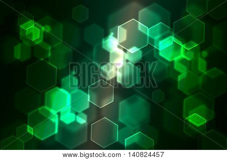 Hexagonal Bokeh abstract background use for graphic design