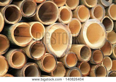Pile Of Cutting Bamboo