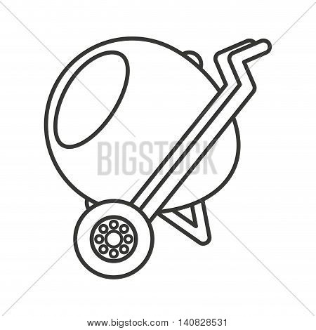mixer machine construction icon vector illustration design