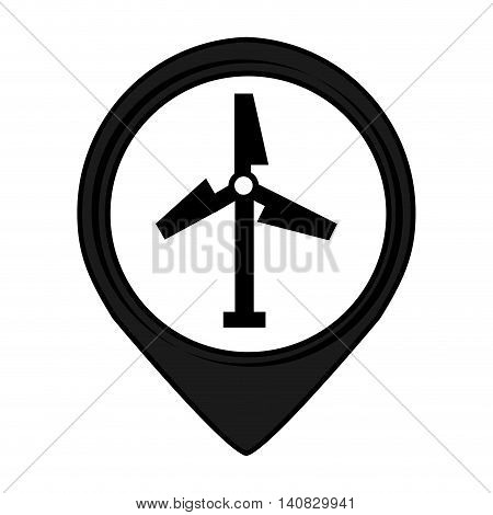 turbine pin pointer caution signal icon vector illustration design