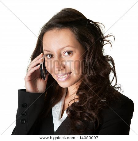 Businesswoman talking on mobile phone