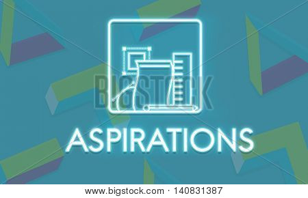 Aspiration Ambition Target Dream Aspire Solution Concept