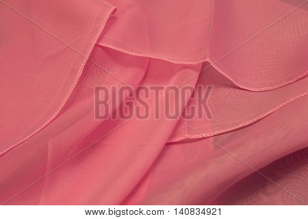 This is a photograph of Pink Polyester fabric