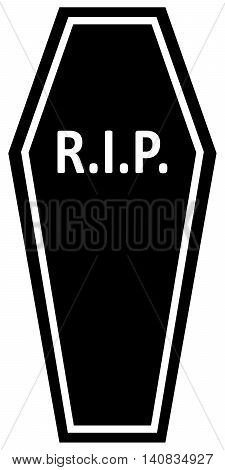Coffin RIP Icon human skull human bone cemetery