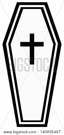 Coffin Plus Icon burying orthodox church illustration