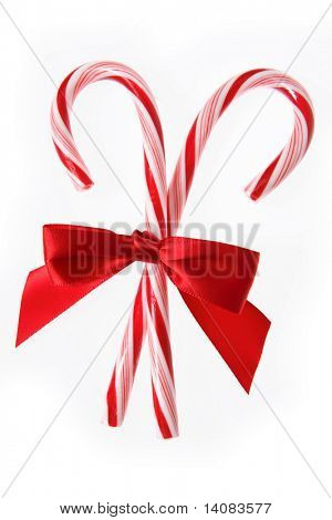 Candycanes with Bow
