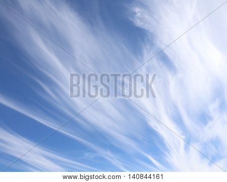 White Clouds In The Blue Sky After The Storms