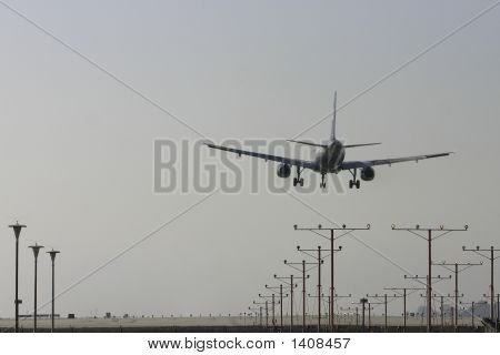 Plane Landing From Behind 4