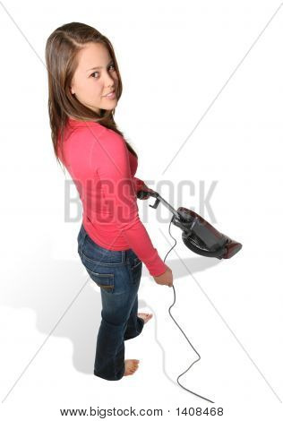 Pretty Woman Vacuuming