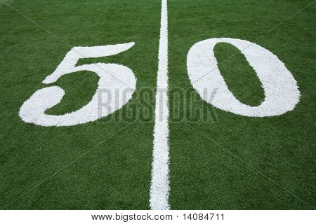 50 Yard Line of Football Field