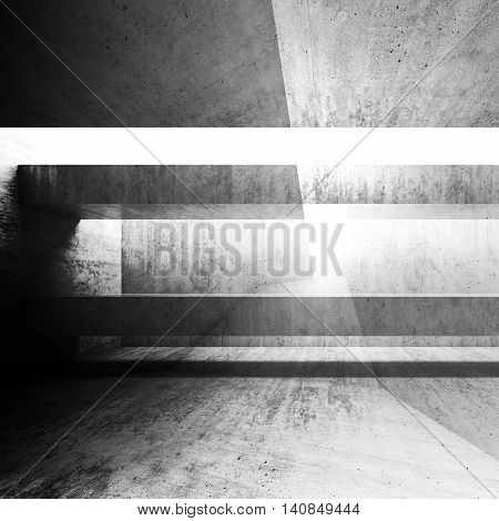 Abstract Grungy 3D Concrete Background