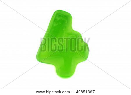jelly figures candy on a white background