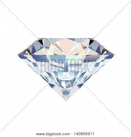 Diamonds jewelry gemstone. Isolated vector illustration on white background.