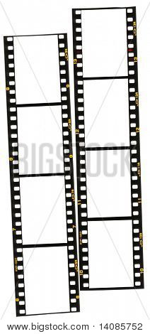 Two strips of 35mm film.  Add your own images, makes a great border.