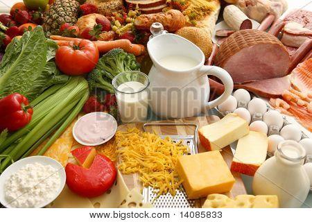 Vielzahl von Lebensmitteln