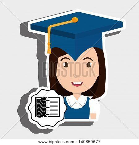 student graduation cap notebook vector illustration eps 10