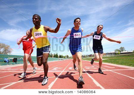 Track finish line
