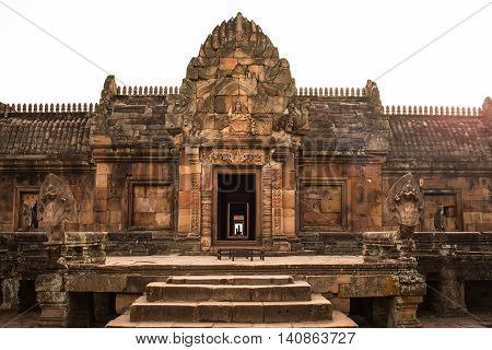 sandstone castle phanom rung in Buriram province Thailand.