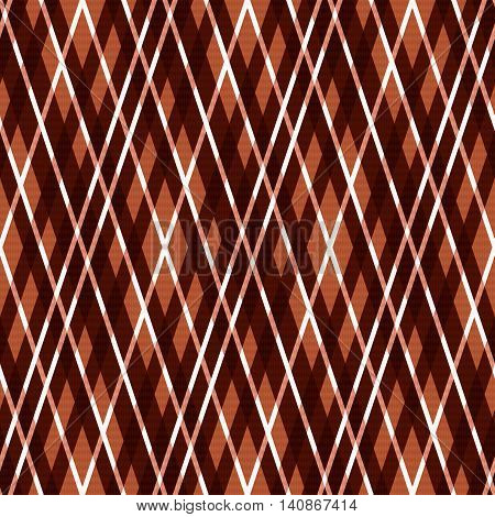 Seamless Rhombic Pattern In Brown